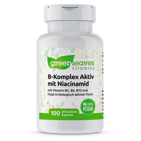 Vitamin B-Komplex Aktiv, mit Niacinamid, 100 Kapseln