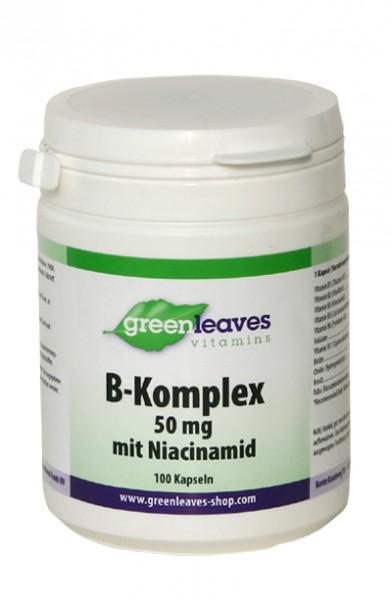 Vitamin B-Komplex, mit Niacinamid, 100 Kapseln