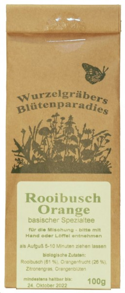 Kräuter-Tee ROOIBUSH-ORANGE, BIO, 100g
