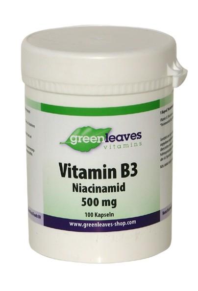 Vitamin B3 500mg, Niacinamid