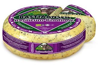 Gouda-Käse BASILIKUM & KNOBLAUCH BIO, ca. 300g, Holland