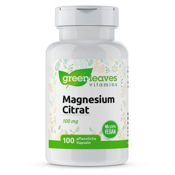 Magnesiumcitrat, 100mg Magnesium, 100 Kapseln