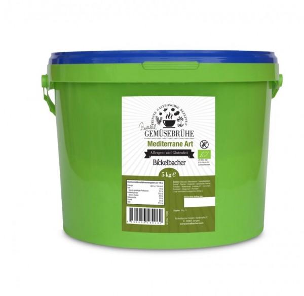 BIO-Gemüsebrühe Mediterane Art 5 kg, klar, 100% Vegan